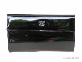 Portefeuille en cuir vernis noir pour femme - Devis sur Techni-Contact.com - 1