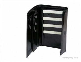 Portefeuille en cuir vernis noir pour femme - Devis sur Techni-Contact.com - 2