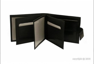 Portefeuille homme cuir noir avec languette - Devis sur Techni-Contact.com - 2