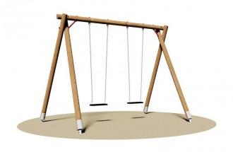 Portique balancoire 2 sièges - Devis sur Techni-Contact.com - 1