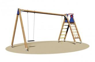 Portique balançoire avec escalier - Devis sur Techni-Contact.com - 1