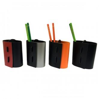Pot à crayons cuir bicolore - Devis sur Techni-Contact.com - 1