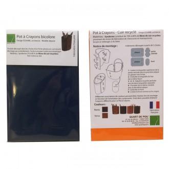 Pot à crayons cuir bicolore - Devis sur Techni-Contact.com - 4