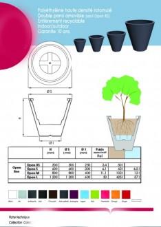 Pot de fleur en polyéthylène - Devis sur Techni-Contact.com - 2