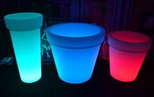 Pot de fleurs lumineux LED RGBW - Devis sur Techni-Contact.com - 1