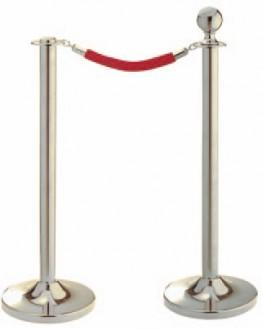 Poteau à corde chromé - Devis sur Techni-Contact.com - 1