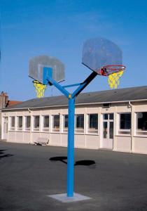 Poteau basket de rue panneau en tôle - Devis sur Techni-Contact.com - 2