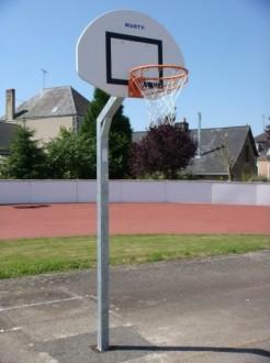 Poteau basket de rue simple panneau polyester - Devis sur Techni-Contact.com - 1