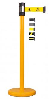 Poteau de guidage jaune à sangle 2.10 m - Devis sur Techni-Contact.com - 1