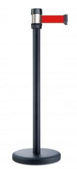 Poteau noir balisage à sangle 2.10 m - Devis sur Techni-Contact.com - 1