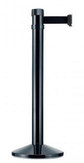 Poteau noir balisage à sangle 4.10 m - Devis sur Techni-Contact.com - 1