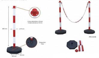 Poteaux à chaînes PVC - Devis sur Techni-Contact.com - 1