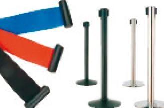 Poteaux de balisage à sangle rétractable - Devis sur Techni-Contact.com - 1