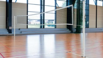Poteaux de volley ball scolaires en acier - Devis sur Techni-Contact.com - 1