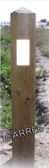 Potelet rétro-réfléchissant en bois - Devis sur Techni-Contact.com - 1