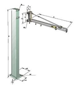 Potence aluminium 40 à 2000 Kg - Devis sur Techni-Contact.com - 1