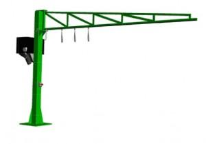 Potence triangulée avec rail coulissant - Devis sur Techni-Contact.com - 2
