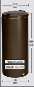 Poubelle 120 L - Devis sur Techni-Contact.com - 2