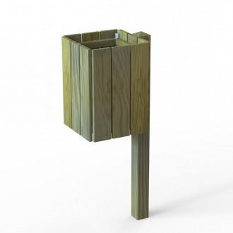 Poubelle carrée en bois 50 litres - Devis sur Techni-Contact.com - 2
