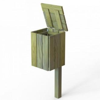 Poubelle carrée en bois 50 litres - Devis sur Techni-Contact.com - 3