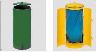 Poubelle compacte à deux battants - Devis sur Techni-Contact.com - 2