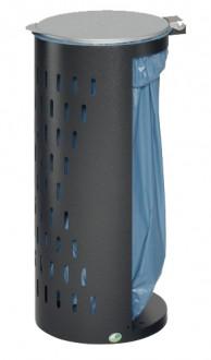 Poubelle compacte en tôle d'acier galvanisé - Devis sur Techni-Contact.com - 3