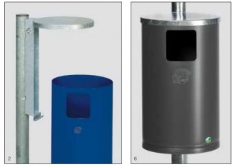 Poubelle d'extérieur en acier - Devis sur Techni-Contact.com - 1