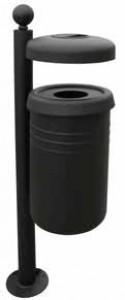 Poubelle extérieure avec bac cylindrique - Devis sur Techni-Contact.com - 1