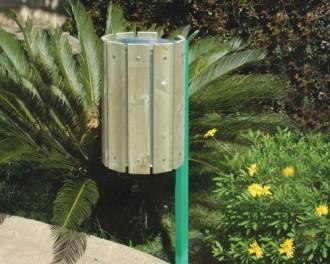 Poubelle publique en bois - Devis sur Techni-Contact.com - 1