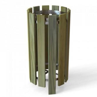 Poubelle ronde en bois 100 litres - Devis sur Techni-Contact.com - 2