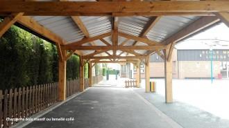 Préau pour école à charpente bois - Devis sur Techni-Contact.com - 2
