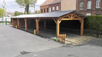 Préau pour école à charpente bois - Devis sur Techni-Contact.com - 3
