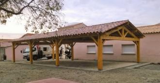 Préau pour école à charpente bois - Devis sur Techni-Contact.com - 4