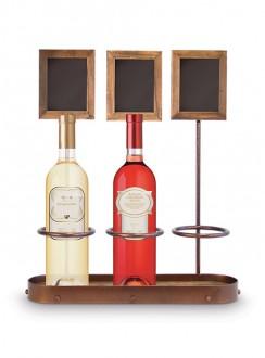 Présentoir à bouteille de vin avec ardoise - Devis sur Techni-Contact.com - 4