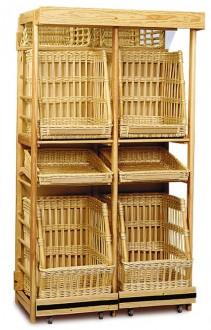 Présentoir à pain verticale osier - Devis sur Techni-Contact.com - 1