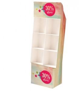 Présentoir blanc en carton - Devis sur Techni-Contact.com - 1