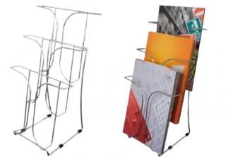 Présentoir brochure à 3 compartiments - Devis sur Techni-Contact.com - 1
