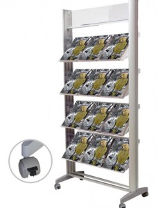 Présentoir brochure aluminium - Devis sur Techni-Contact.com - 1
