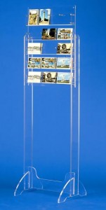 Présentoir carte postale plexiglas sur pieds - Devis sur Techni-Contact.com - 4