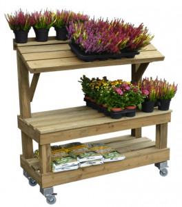 Présentoir fruit et légume en bois 2 niveaux - Devis sur Techni-Contact.com - 2