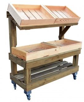 Présentoir fruit et légume en bois 2 niveaux - Devis sur Techni-Contact.com - 3
