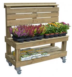 Présentoir fruit et légume en bois 2 niveaux - Devis sur Techni-Contact.com - 4