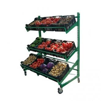 Présentoir fruits et légumes simple face - Devis sur Techni-Contact.com - 1