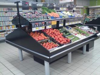 Présentoir métallique fruits et légumes - Devis sur Techni-Contact.com - 1