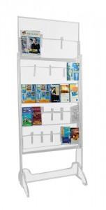 Présentoir plexiglas brochure sur pieds 23 cases - Devis sur Techni-Contact.com - 1