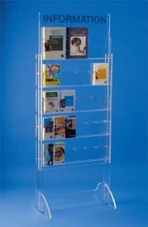 Présentoir plexiglas brochure sur pieds 23 cases - Devis sur Techni-Contact.com - 3