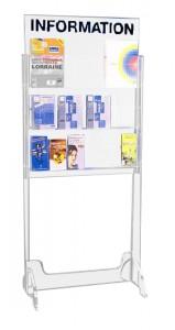 Présentoir plexi brochure sur pieds 6 cases - Devis sur Techni-Contact.com - 1