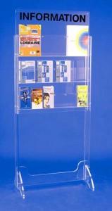 Présentoir plexi brochure sur pieds 6 cases - Devis sur Techni-Contact.com - 2