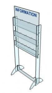 Présentoir plexi brochure sur pieds 6 cases - Devis sur Techni-Contact.com - 3