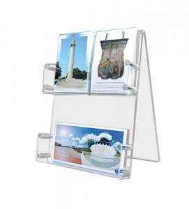 Présentoir plexi cartes postales de bureau - Devis sur Techni-Contact.com - 1
